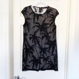 3/$30 Ally Fashion Mesh Palm Tree Print Dress